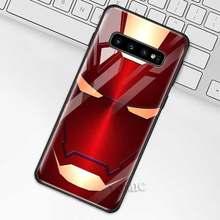 Marvel Железный человек чехол для samsung Galaxy S10 S10e S9 S8 плюс A70 A50 A30 Note 9 10 + 5G закаленное Стекло телефона чехол Coque(Китай)