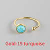 Gold-19 turquoise