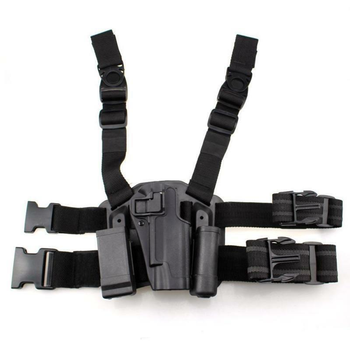 Gun Holster Hunting Leg Holster for Glock G17 M92 1911 P226 Tactical Adjustable Right Hand Drop Thigh Pistol Case