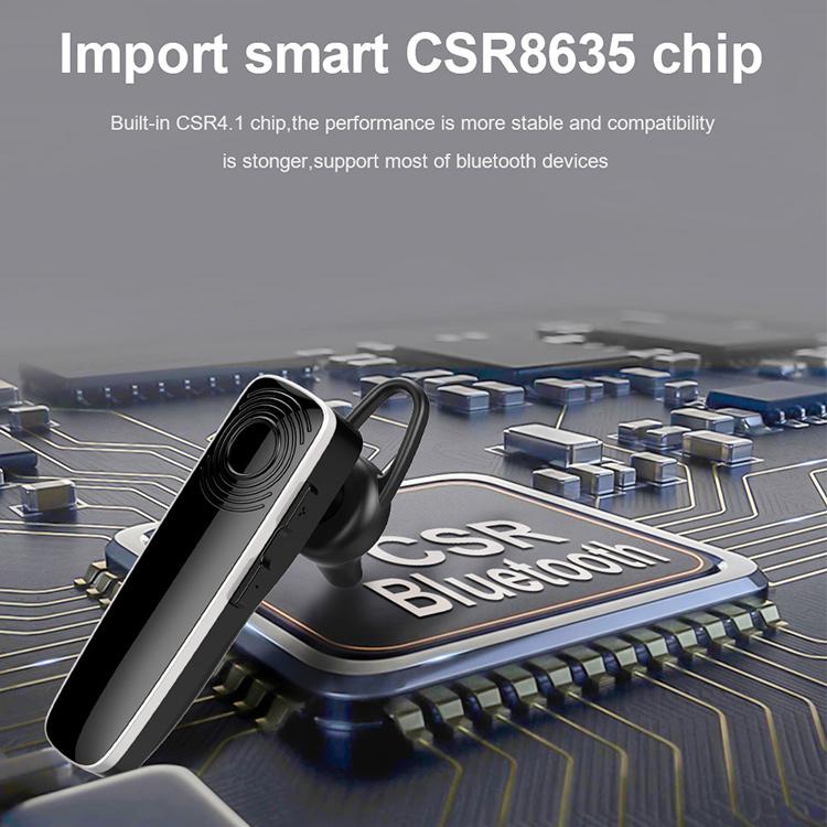 New Bee NB-12 CSR 5,0, 12 часов автономной работы, с одним ушным крючком, Bluetooth-наушники с микрофоном