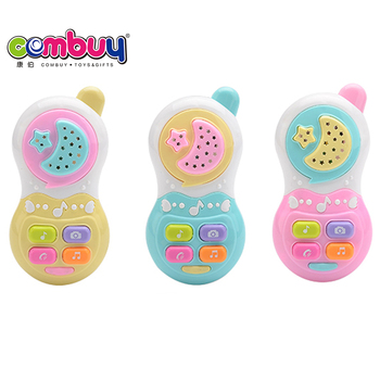 Electric light projection baby play musical toy mobile phone