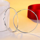 Silver Hoop Earrings Fashion Jewelry Silver Plated Stainless Steel Hoop Earrings Suitable For Parties Silver Hoop Earrings Women