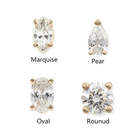 Gemnel Fashion 925 silver jewelry pear cut Marqui diamond stud earrings woman
