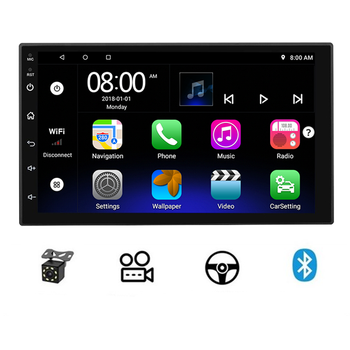 Factory supply car audio system 7 inch 1+16G android car radio Universal stereo touch screen android autoradio