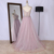Hot selling tulle beading spaghetti strap sweep train pink elegant ladies ball gown wedding prom dress