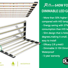 High Efficacy Dimmable 1700 Pro Foldable Style Full Spectrum 640W 1000W Led Grow Lights