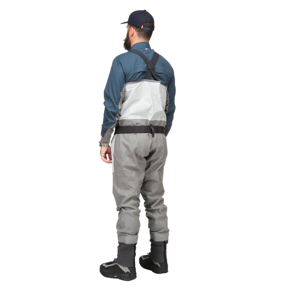 Fishmen Chest Wader Waterproof Dry Pants Breathable Zip-front Stockingfoot Waders With Overlayed Pockets for Hunting Fishing