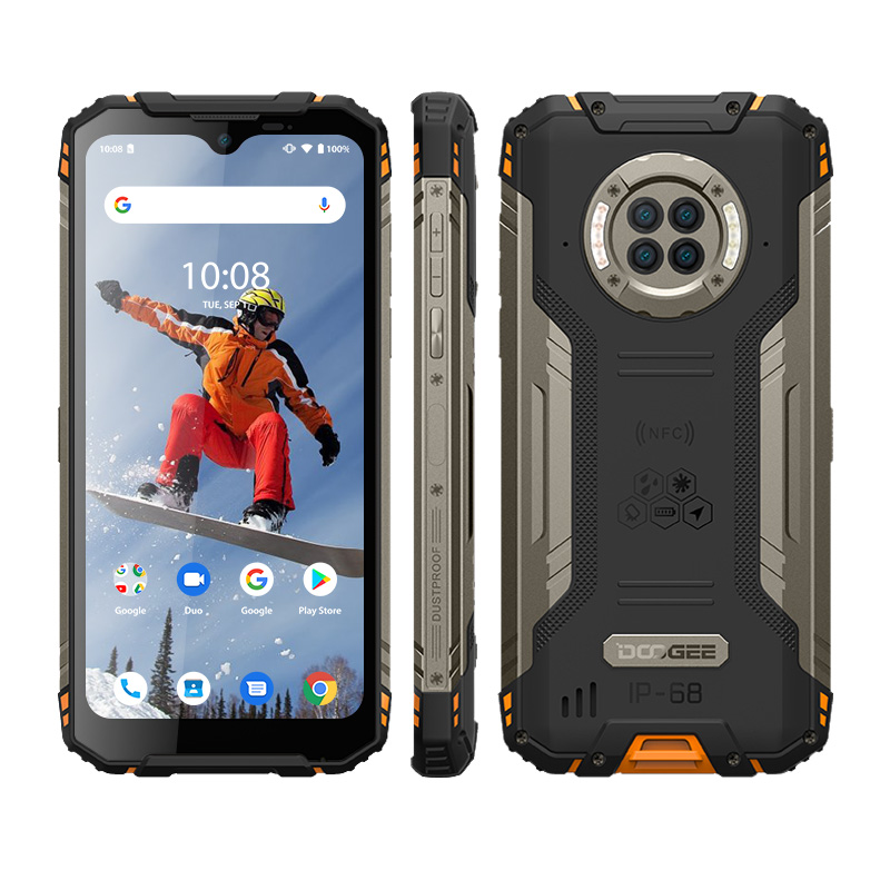 IP68 DOOGEE S96 Pro New Rugged Mobile Phone 6.22 inch Notch Screen 6350mAh Helio G90 Octa Core 8GB 128GB 48MP+8MP Android Q