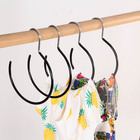 Scarf Display Circular Metal Scarf Tie Display Hanger PVC Clothing Organizer