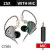 Cyan with mic