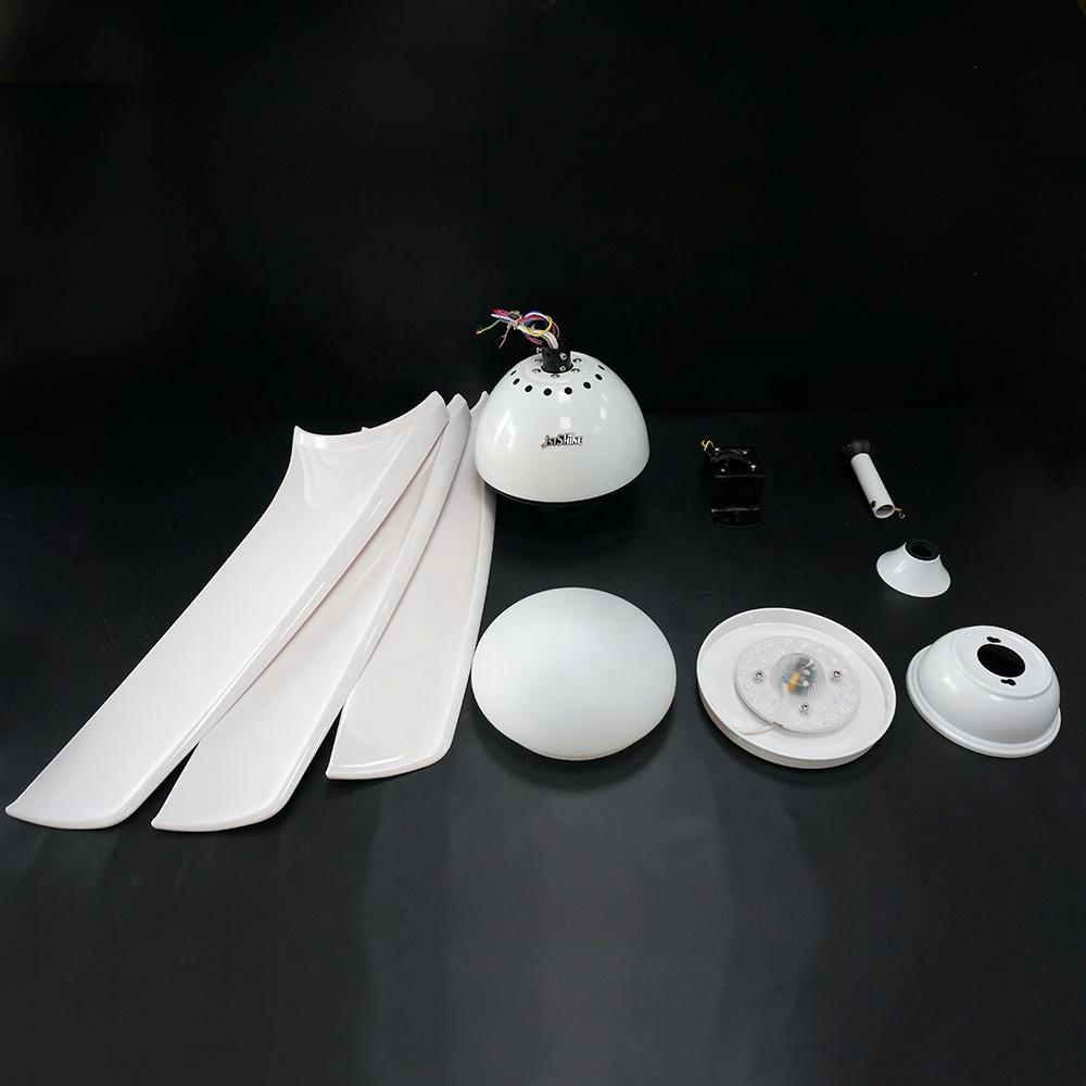 1stshine, декоративный энергосберегающий инвертор для отеля с пластиковым лезвием, светодиодный светильник, вентиляция, водонепроницаемый уличный потолочный вентилятор