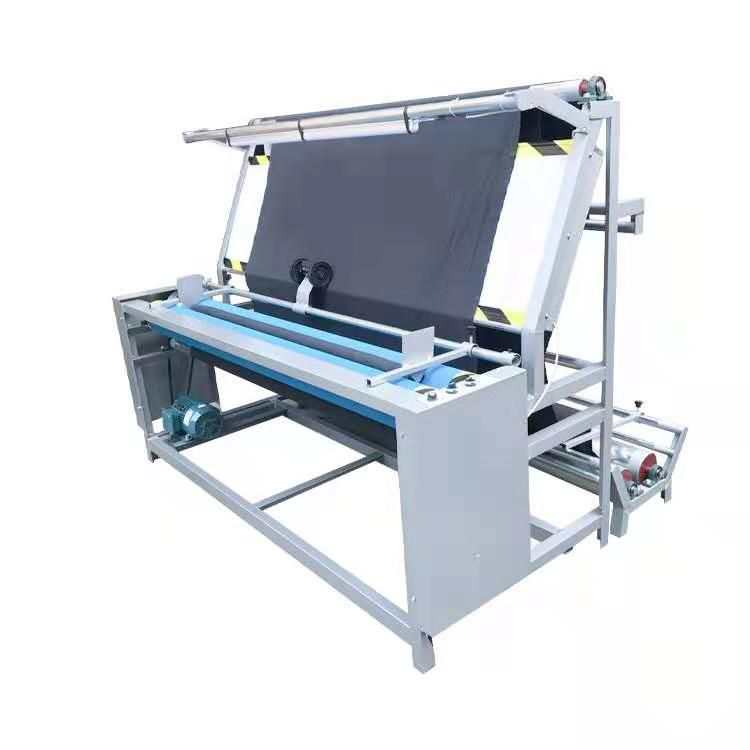 Industrial Tubular Fabric Rolling Inspection Machine Manual Cloth Measuring Machine