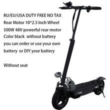 Электрический скутер 48 в 500 Вт с батареей, патинет, Электрический скутер Adulto Kick eScooter, электрический скейтборд, велосипед, моноподик, Электрич...(Китай)