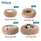 Bed Round Long Faux Fur Pet Bed Comfortable Plush Donut Round Dog Bed
