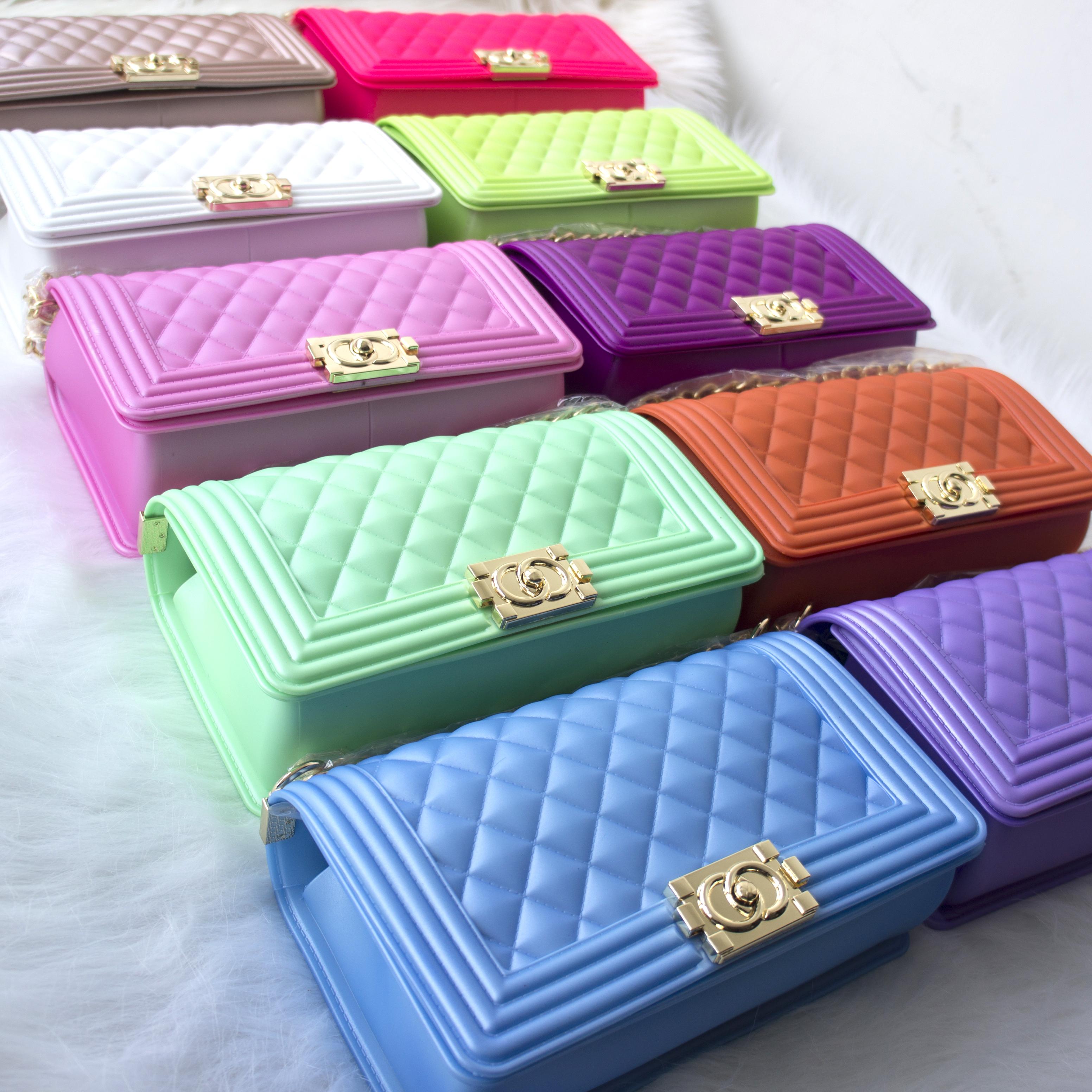 Новая женская Горячая Распродажа Желейная сумка через плечо цветная сумка из ПВХ сумка через плечо