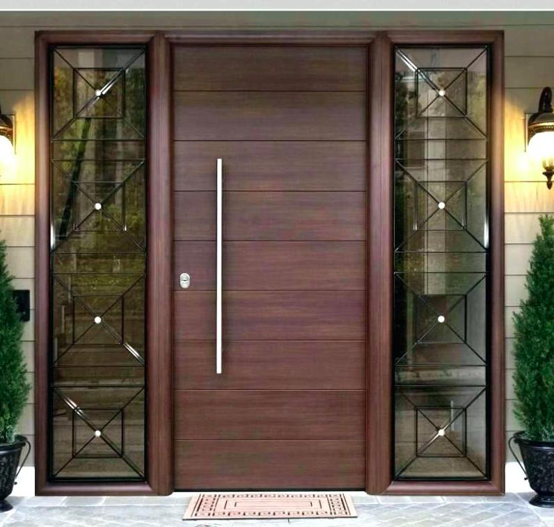 Main Entrance Door Wood Front Door Modern Wooden Doors Entry With Sidelights Buy Wood Front Door Main Entrance Door Wooden Doors Entry Product On Alibaba Com