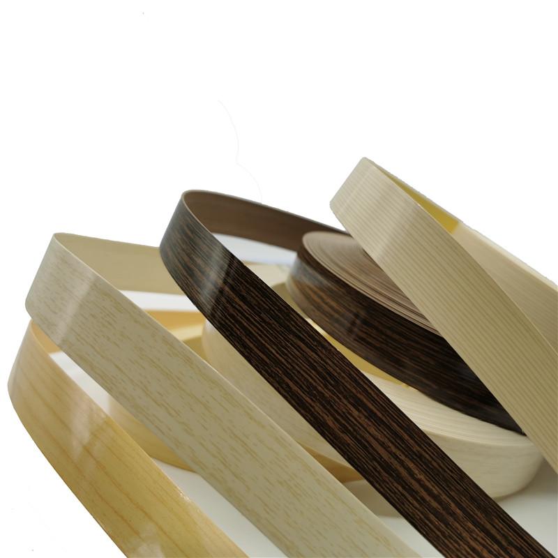 China Whole sale pvc edge tape furniture kitchen cabinet decorative wood strip