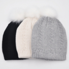 Winter Fashion Beanies Winter Beanie Hat Type Winter Women Chenille Winter Hats With Pom Ladies Fashion Warm Beanies
