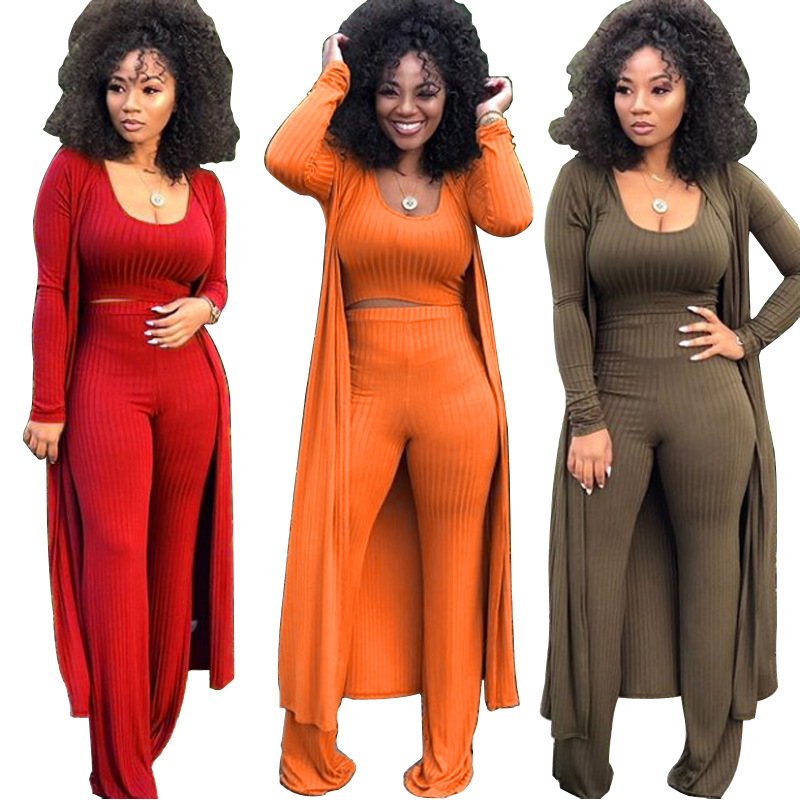 MYF9294 Wholesale woman clothes fall clothing long sleeves three-pieces women outfit
