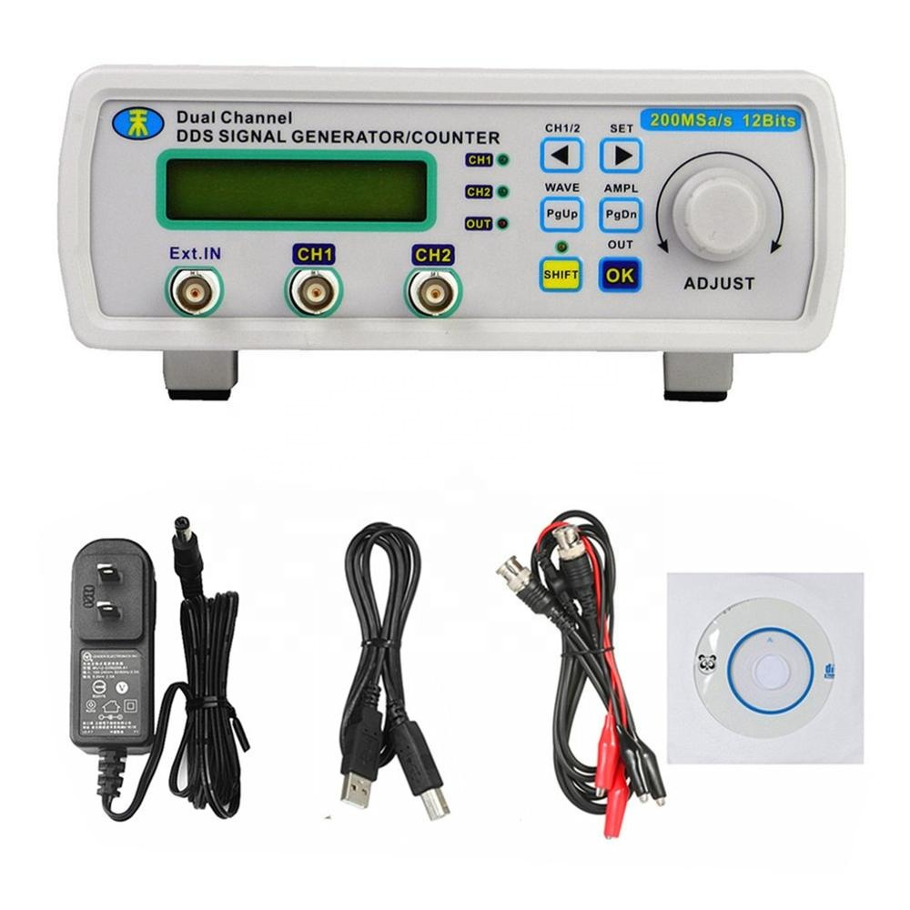 MHS-5200A 6MHz Digital DDS Dual-channel Arbitrary Waveform Functional Signal Generator Frequency Meter High Precision