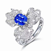18k gold 2.54ct natural sapphire ring and pendant