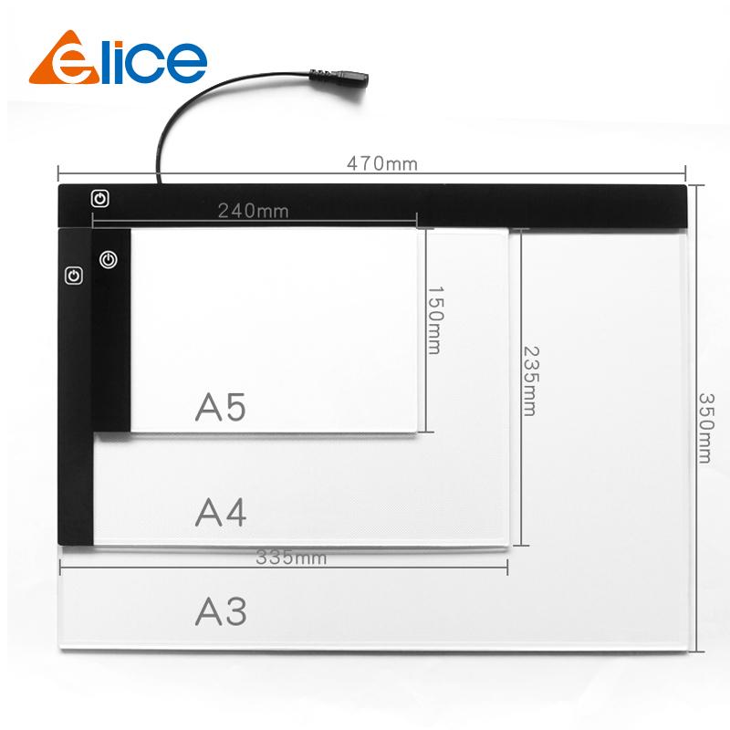 Портативный a5 светодиодный Отслеживание светлая доска для рисования свет pad