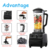 2L Heavy Duty Industrial Food Mixer Commercial Smoothie Ice Blender Mixer