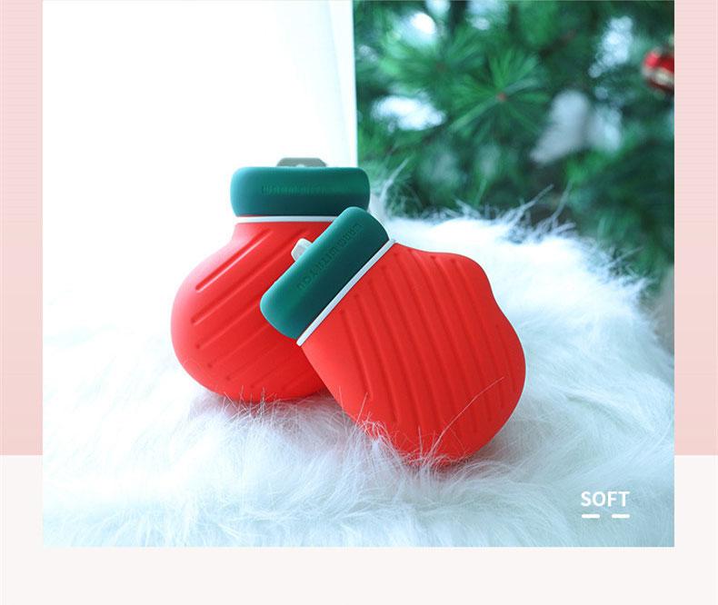 Рождество согреться Защита окружающей среды силиконовые бутылки горячей воды