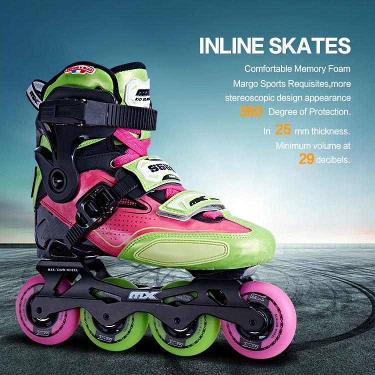 Оптовая продажа, лучший четырехколесный Профессиональный Регулируемый роликовый коньк Slalom для взрослых
