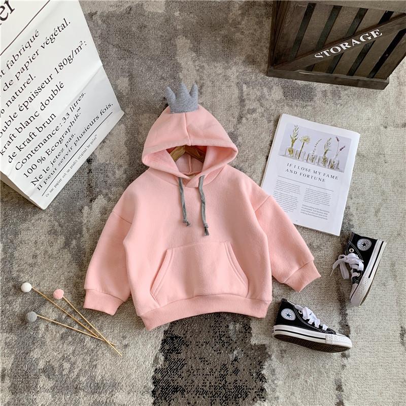 Детская однотонная Вельветовая толстовка с капюшоном и бантом для девочек; Толстовка с капюшоном для малышей