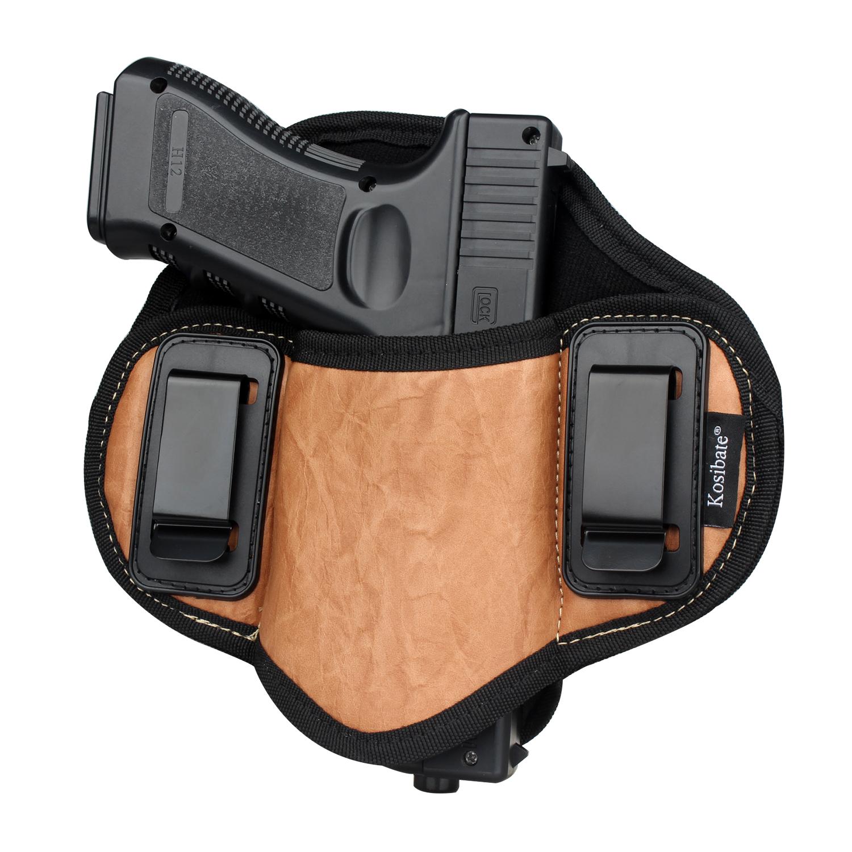 Кобура для пистолета, кобура из искусственной кожи для скрытого ношения, кобура для блинчиков, пистолета, пистолета для Gock 17 19 30 Sig Sauer P226 P250 P320