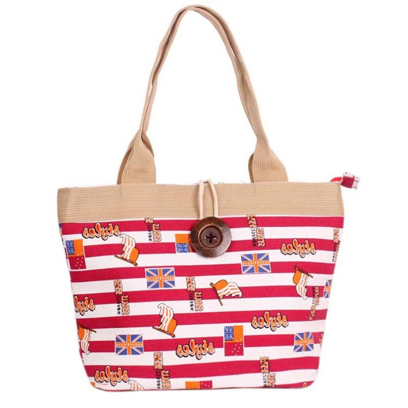 Canvas handbag Fashion Design large capacity Waterproof Durable Women Printed shopping handbag shoulder bag