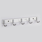 Wall Hooks Hook Hangers Wall Coat Rack Coat Clothes Hooks Wall Mounted Heavy Duty Stainless Steel Hook Rack Self Holders Hanging Wall Hangers