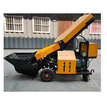 Diesel Slant secondary structure pouring concrete fine stone conveying high rise building mortar pumping machine