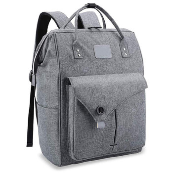 Laptop Backpack 15.6 Inch Work Laptop Backpack Bag Computer Back pack Business Water Repellent Travel for Women and Men Grey