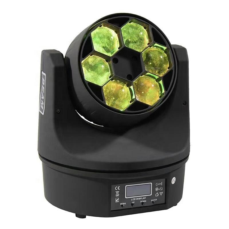 Мини пчелиный глаз BALME0641 6ps 12w LED RGBW 4 в 1 диско движущееся головное профессиональное освещение