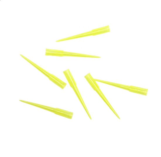 Disposable plastic general yellow blue pipette tips /