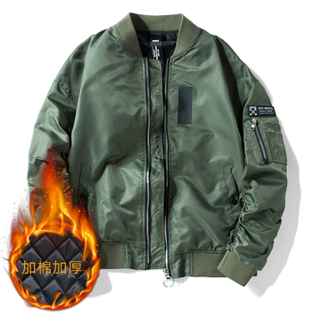 Super Large army green nylon military men's jacket customized high quality ma1 pilot jacket flying bomber jacket