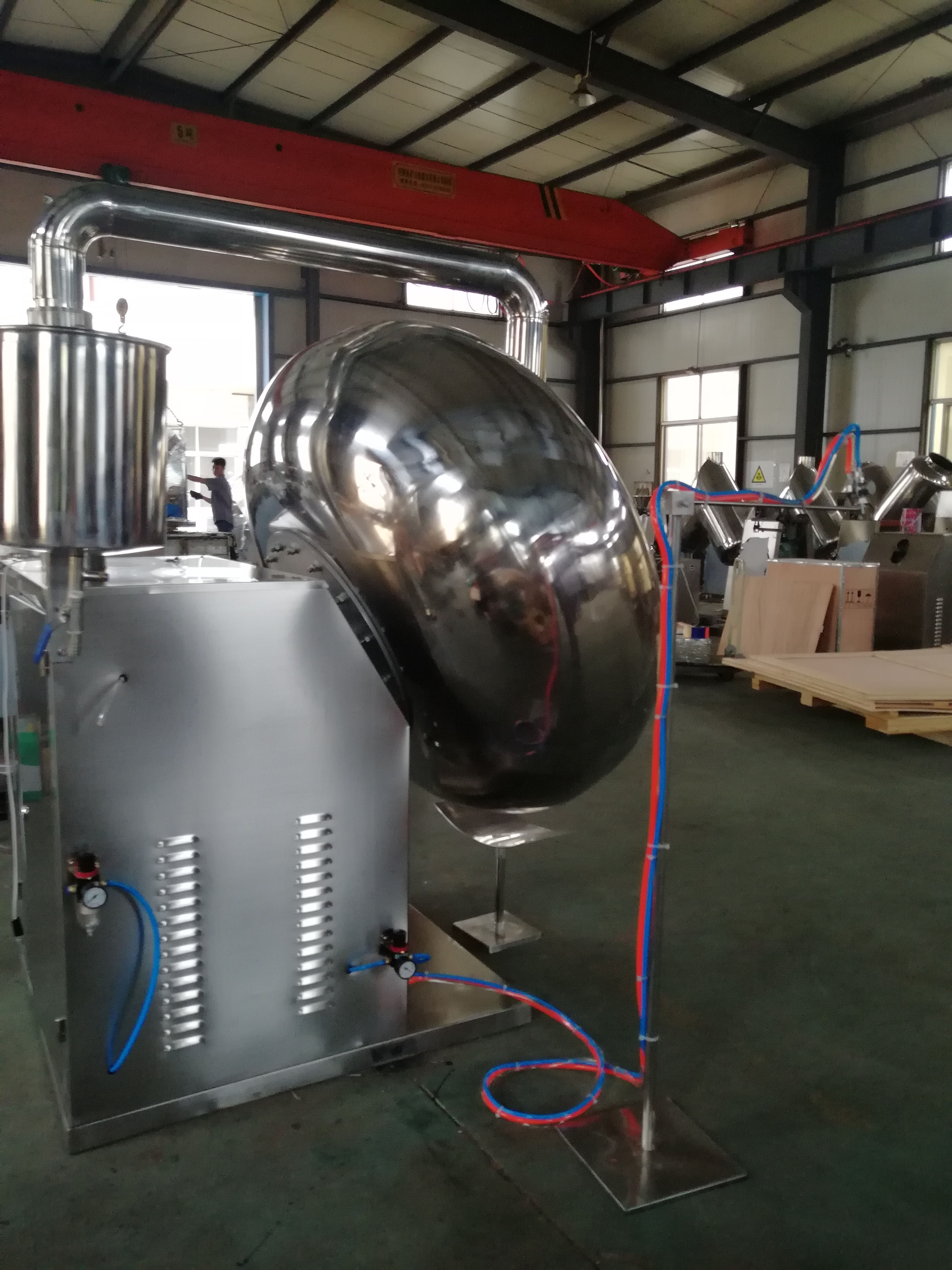 China hot sale Stainless steel middle tablet coating machine BYC-1250