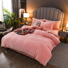 Bed Sheet 2020 Hot Selling Crystal Velvet Flannel Fleece Bed Cover Duvet 4 Pieces Winter Bedding Set Thicken Sheet Set