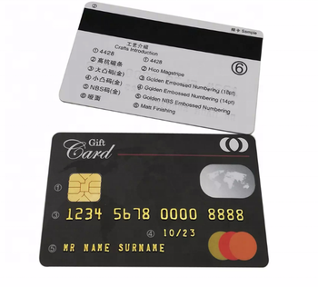 Hot selling prepaid credit cards mastercard