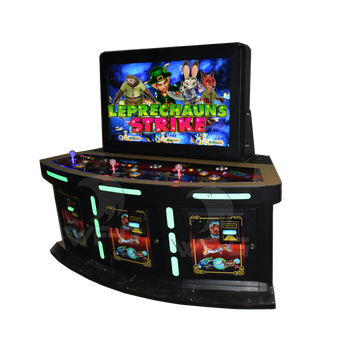 3 players stand up 42 inch newest skill machines leprechauns strike fish game machine table gambling with tv