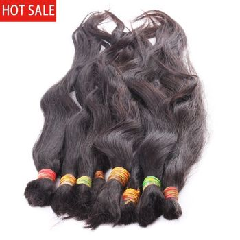 100% cheap virgin unprocessed human braiding hair bulk no weft raw indian hair bulk