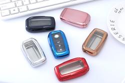 Original factory TPU oem car key remote case cover customized key case for Toyota Prado key box