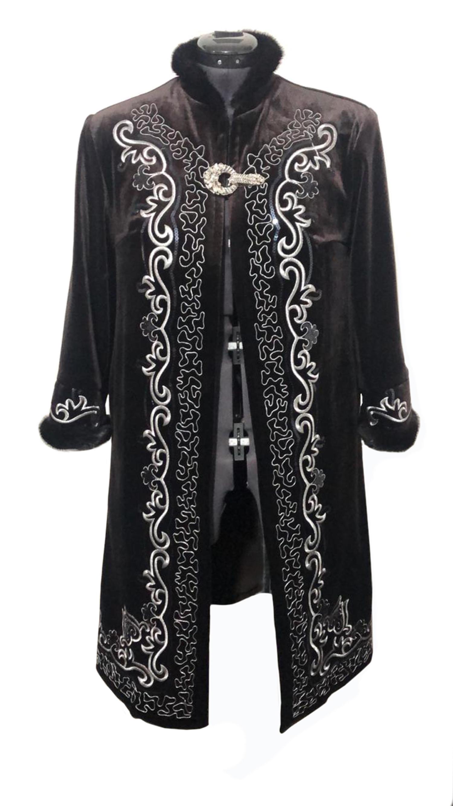 Winter Long Coat Long Sleeve Beshmet Clothing