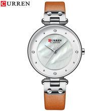 CURREN креативные простые кварцевые часы женская одежда стальные сетчатые часы новые часы женские часы-браслет relogios feminino(Китай)