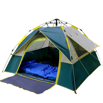 Fully automatic pop up waterproof breathable on all sides tent for family