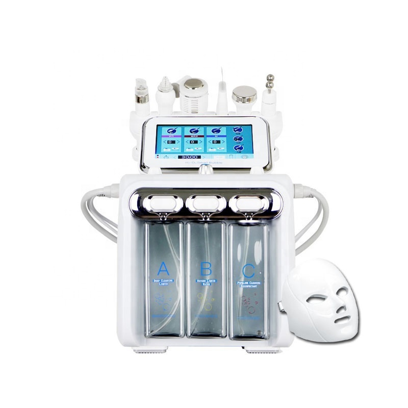 Professional H2o2 hydrafacials hydradermabrasion jet peel machine facial 7 en 1