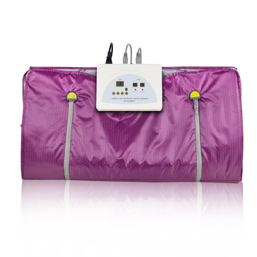Far Infrared Sauna Blanket 2 Zone Digital Controller Slimming Weight Detox Spa