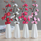 Stem FPB003 Artificial Plum Blossom Simulation Silk Flower Short Stem Wintersweet Theme Plum Home Decoration